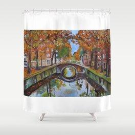 Bridge in Delft Shower Curtain