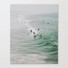 lets surf iv / venice beach, california Canvas Print