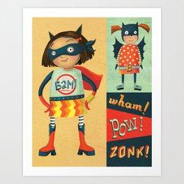 Superhero Girls Art Print