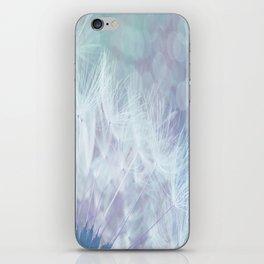 Whimsical Blue Dandelion iPhone Skin