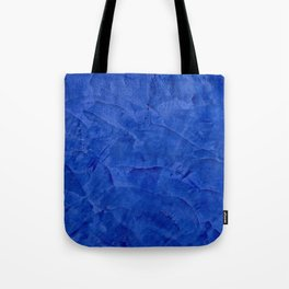 Dark Blue Ombre Burnished Stucco - Faux Finishes - Venetian Plaster Tote Bag