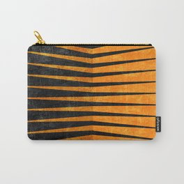 Yellow / Black - Geometric Carry-All Pouch