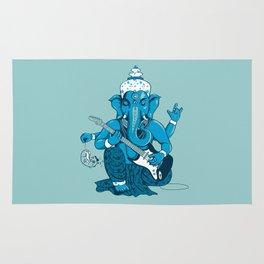 Ganesha rocks ! (v3) Rug