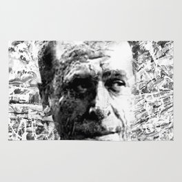 CHARLES BUKOWSKI (BLACK & WHITE VERSION) Rug