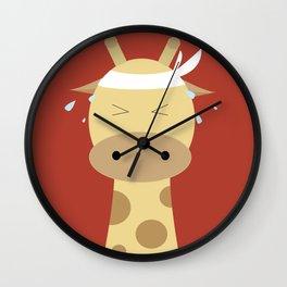 Giraffe - Running Wall Clock