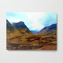 Glencoe, Scottish Highlands, in the Autumn Metal Print