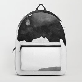 Charcoal Bison, Watercolor buffalo Backpack