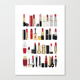 The Lipsticks Shelf Canvas Print
