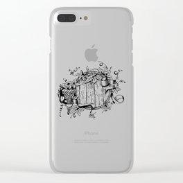 Wine in a barrel Clear iPhone Case