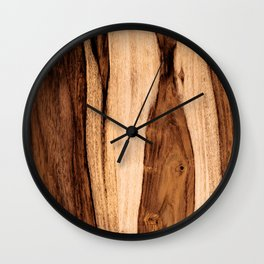 Sheesham Wood Grain Texture, Close Up Wall Clock