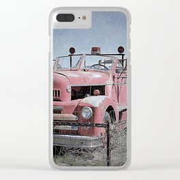 Vintage Fire Truck Clear iPhone Case