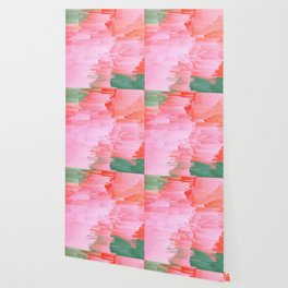 Romance Glitch - Pink & Living coral Wallpaper