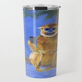 Sammy the Snub Nosed Golden Monkey Travel Mug
