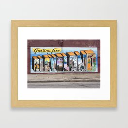 Greetings From Cleveland Framed Art Print