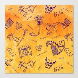 Magic symbols Canvas Print
