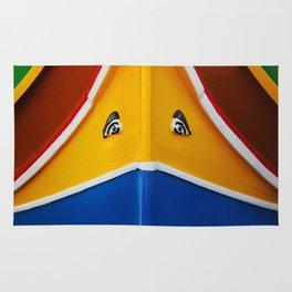 Maltese Boat - Luzzu Colours  Rug
