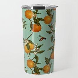 Orange Pattern I Travel Mug