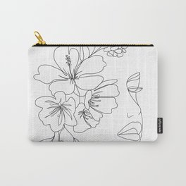 Minimal Line Art Woman Face II Carry-All Pouch