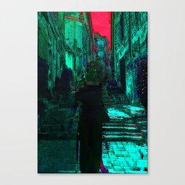 Femme dans une ruelle Canvas Print