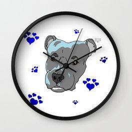 Chomper - Pitbull Love Wall Clock