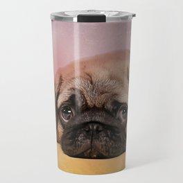 Pug puppy  Digital Art Travel Mug