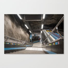 Västra skogen Metro Station in Stockholm, Sweden II Canvas Print