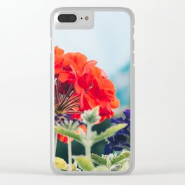 Red Flowers, Leavenworth Clear iPhone Case