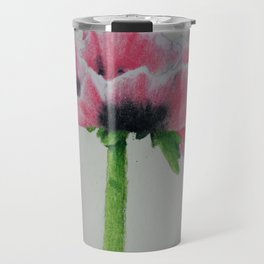 Pink Poppy Sketch Travel Mug