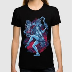 Kali Black LARGE Womens Fitted Tee