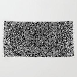 Zen Black and white Mandala Beach Towel