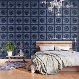Bandana - Navy Blue - Boho Wallpaper