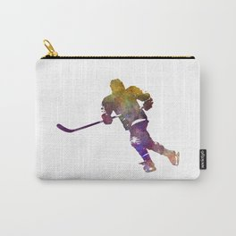 Skater with stick in watercolor Carry-All Pouch