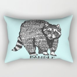 The Raccoon Bandit Rectangular Pillow