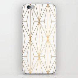 Gold Geometric Pattern Illustration iPhone Skin