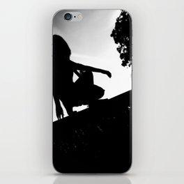 girl on a ledge iPhone Skin