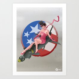 Bullet the blue sky Art Print