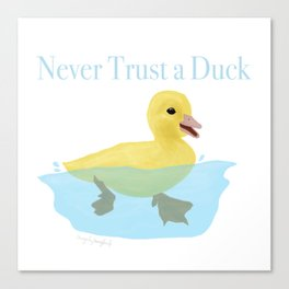 Never Trust a Duck - The Infernal Devices design Canvas Print