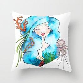 Sea Queen Throw Pillow
