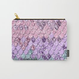 Mermaid Scales with Unicorn Girls Glitter #1 #shiny #pastel #decor #art #society6 Carry-All Pouch