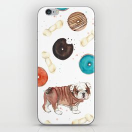 Bulldogs and donuts iPhone Skin