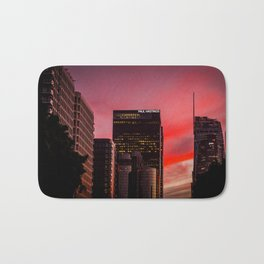 Skyscapes in Los Angeles Bath Mat