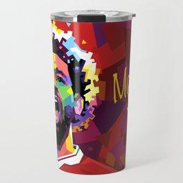 Mo Salah WPAP Travel Mug