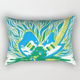Guitar Explosion Rectangular Pillow