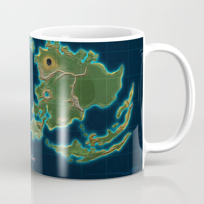 Final Fantasy VII - Shinra Airways World Map Coffee Mug