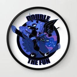 Double the Fun Wall Clock