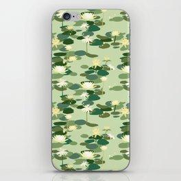 Waterlily pattern in Green iPhone Skin