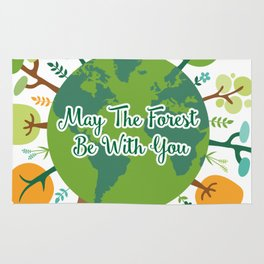Forest Be With You Earth Day Environmental Awareness Rug