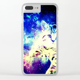 Chill In Space Clear iPhone Case