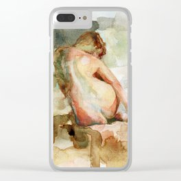 Watercolour Figure Clear iPhone Case