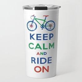 Keep Calm and Ride On Travel Mug